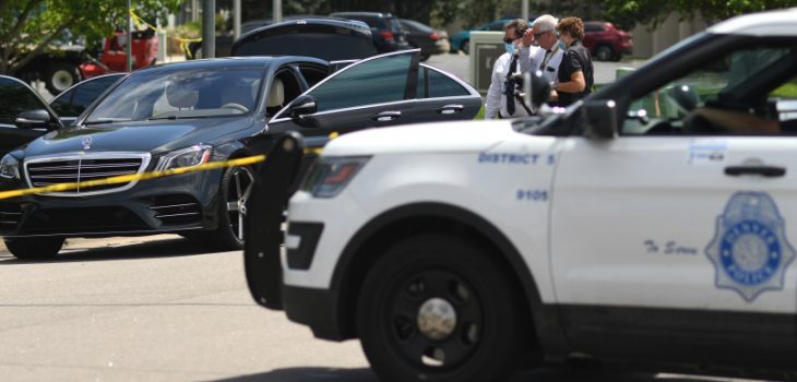 RJ Sangosti, The Denver Post Both Denver and Aurora police officers were involved in a shooting near East 35th Place and Sable Boulevard on June 22, 2020.